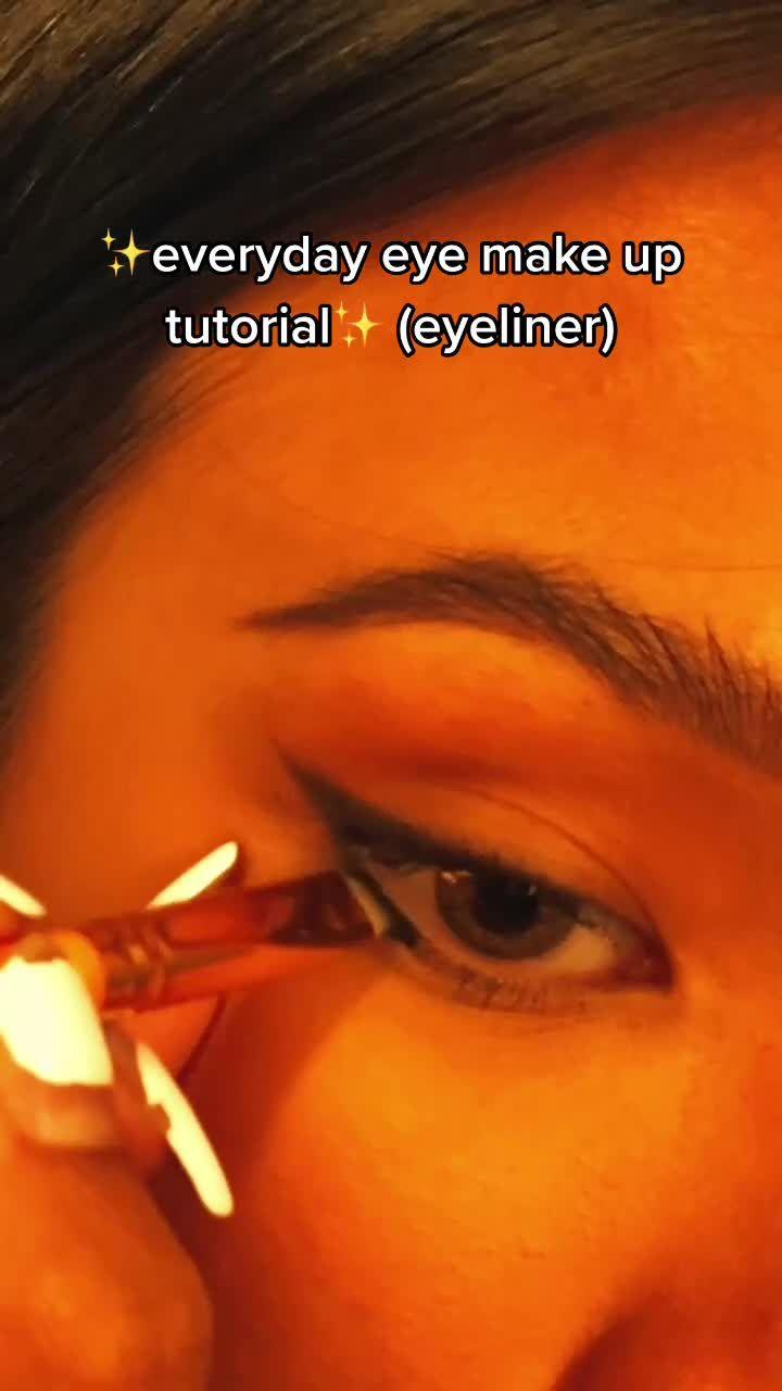 Angel Angelysiaa On Tiktok Much Requested Lol Everydaymakeup Eyeliner Tutorial Riasan Mata Tutorial Eyeliner Tutorial Makeup