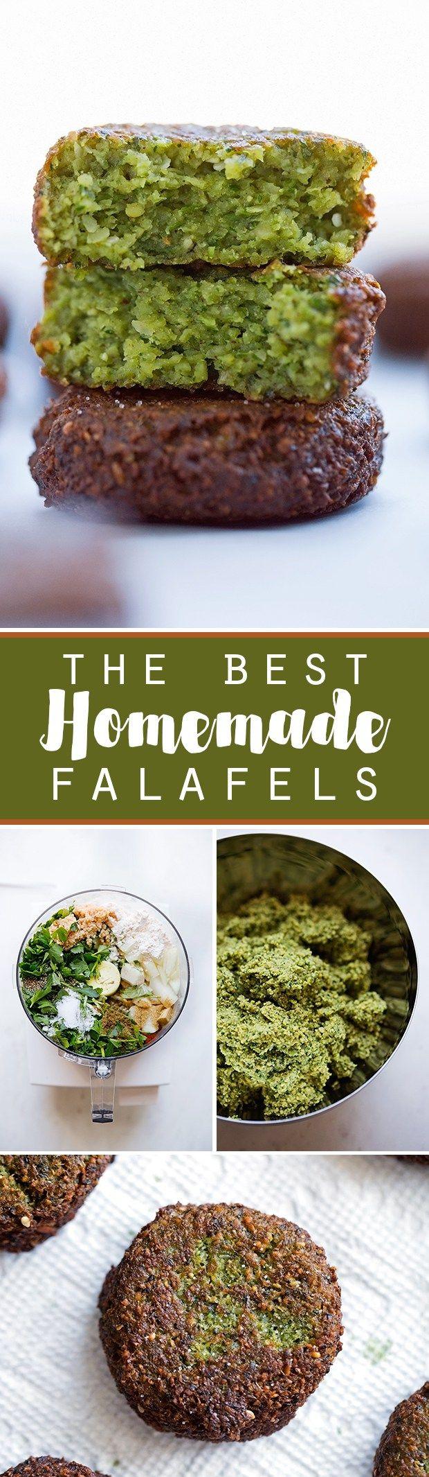 The Best Homemade Falafels - 10/10 Deliz!! Servir con pita bread, hummus y ensalda griega