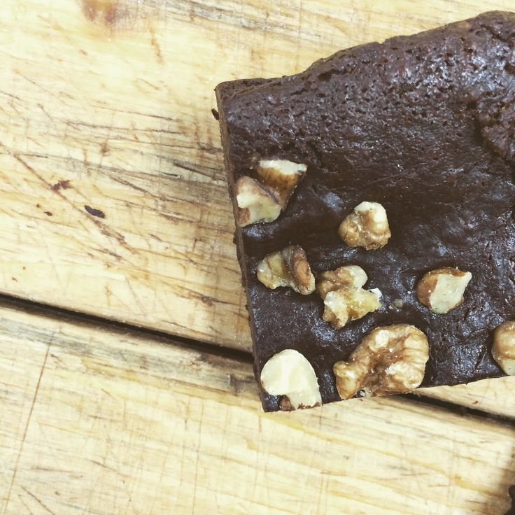 Grace - choc walnut brownie. Warm up, add vegan ice cream, shove in face*   *suggested serving