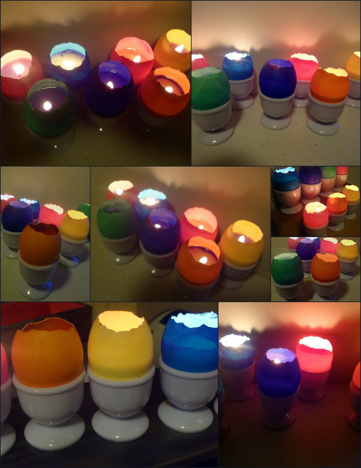 Easy Easter Craft: How to Make Eggshell Votive Candles