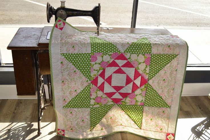 Modern Building Blocks Baby Quilt with far Far Away and Bonnie and Camille