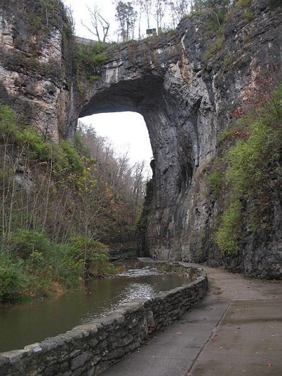 The Natural Bridge  Rockbridge county  Virginia--did this on a crazy move to Austin