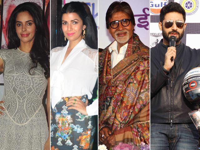 Of Politics and Films: Mallika Sherawat, Nimrat Kaur, Big B, Abhishek http://movies.ndtv.com/photos/of-politics-and-films-mallika-sherawat-nimrat-kaur-big-b-abhishek-19017