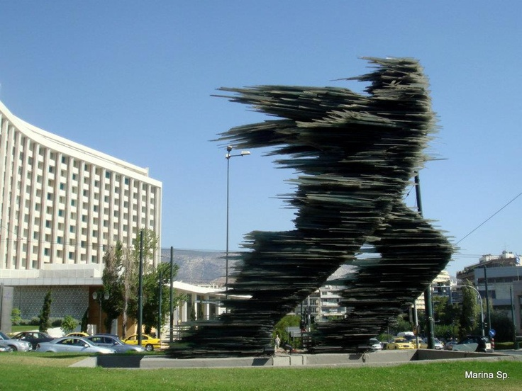 "VISIT GREECE|  Monuments in Greece Project: ""The Runner"" # Athens  Artist: sculptor Costas Varotsos   #monuments #history #art&culture"