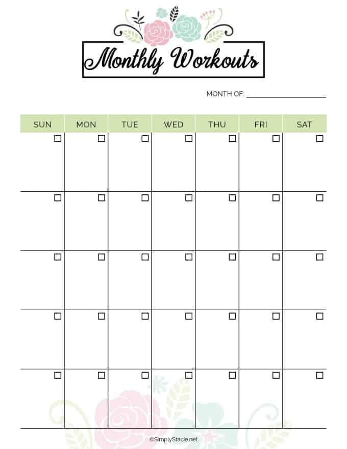 Fitness Planner Printable 2019 Fitness Planner Free Printable