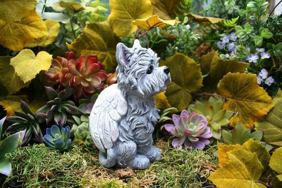 Yorkshire Terrier Angel Dog Statue, Yorkie, Silky Terrier