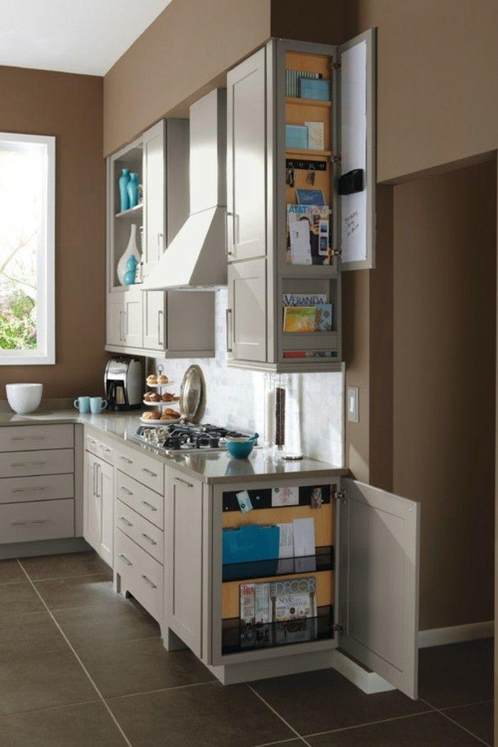 stauraum küche klevere ideen wie man zeitschriften in der küche aufbewahrt