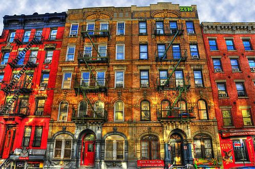 Led Zeppelin Physical Graffiti Building In Color Poster By Randy Aveille