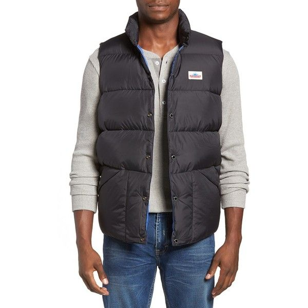 Men's Penfield Outback Quilted Vest ($117) ❤ liked on Polyvore featuring men's fashion, men's clothing, men's outerwear, men's vests, black, mens quilted vest, mens padded vest, mens vest and mens vest outerwear