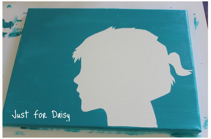 justfordaisy: Father's Day Silhouette Canvas This is a great thrifty gift idea any time of year!
