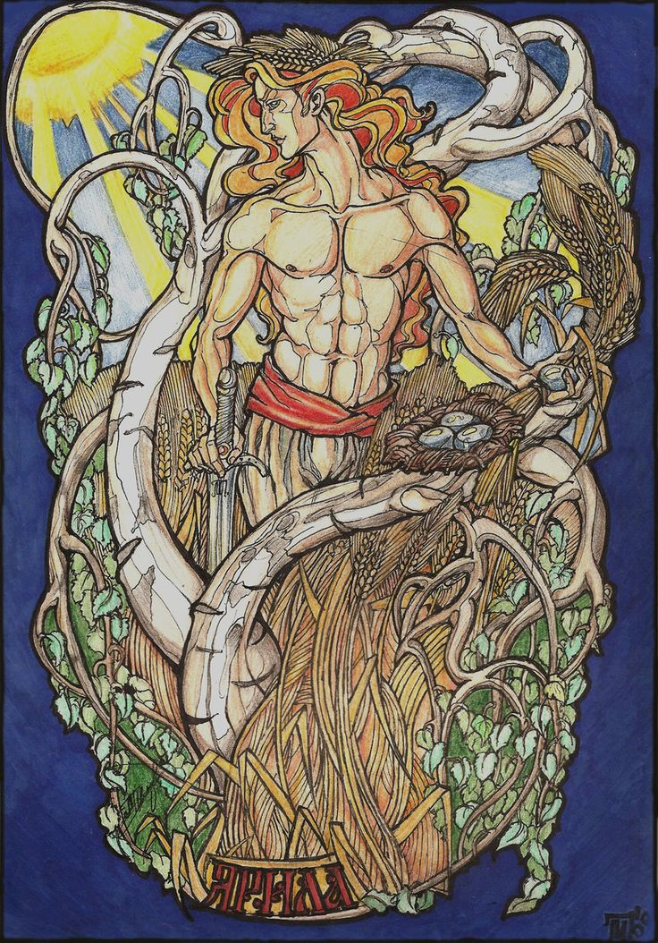 Yarilo, deity of vegetation, fertility and spring, also associated with war and harvest by Righon