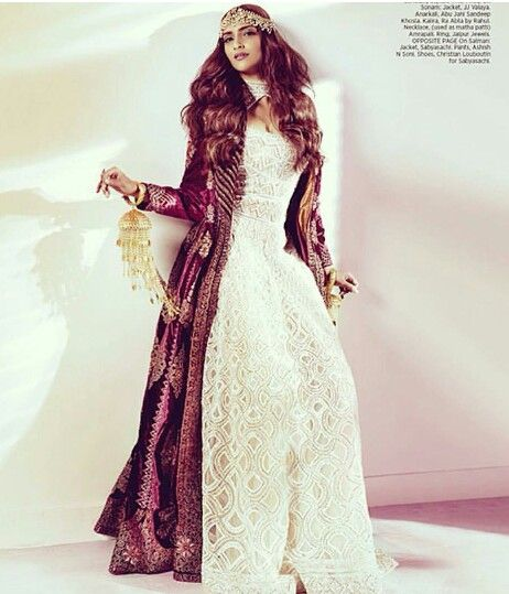 Sonam Kapoor in JJ Valaya Jacket and Abu Jani & Sandeep Khosla design for Harper's Bazaar India