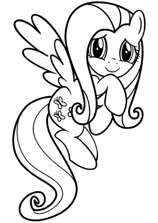 Friendship Is Magic Fluttershy Coloring Page Find This Pin And More On My Little Pony