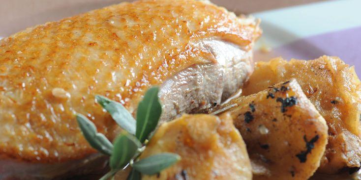 Oie braisée au cidre et aux pommes : recette sur Cuisine Actuelle