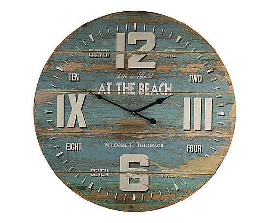 1717d872390 Relógio de Parede At The Beach …