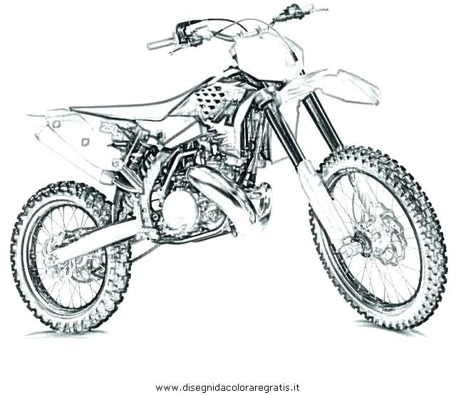 Coloriage De Moto Cross Coloriage Coloriage De Moto Cross A