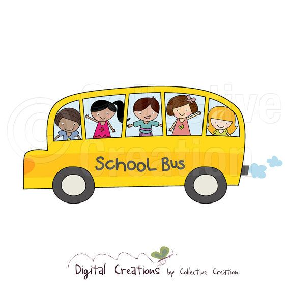 School Bus Digital Clip Art  Personal and by CollectiveCreation, $4.00