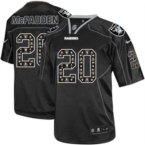 Elite Mens Nike Oakland Raiders http://#20 Darren McFadden New Lights Out