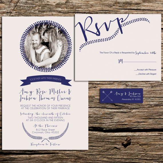 Laurel Photo Wedding Invitations, Budget Invitation, Invitation Set, with RSVP cards and address labels - Simple Wedding on Etsy, $1.60