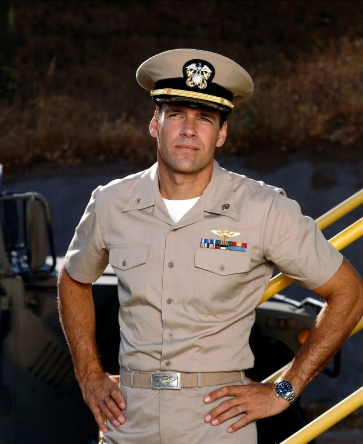 David James Elliott.  There ain't nothin' like a man in uniform...
