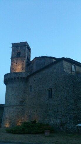 Torrione di San Michele, by night, Castiglione Garfagnana, Tuscany