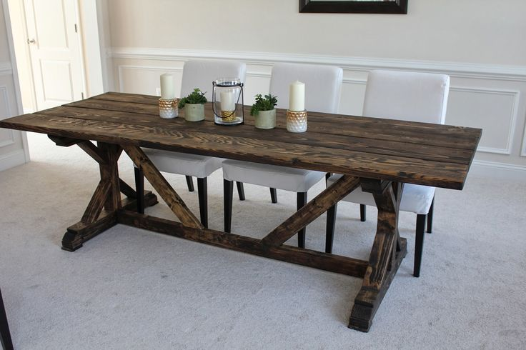 Wooden Farmhouse Table Plans DIY blueprints Farmhouse table plans EASY HOW TO VIDEO SHOWING ALL OF THE I ve built a EASY TO FOLLOW PLAN It will be something that I can pass down