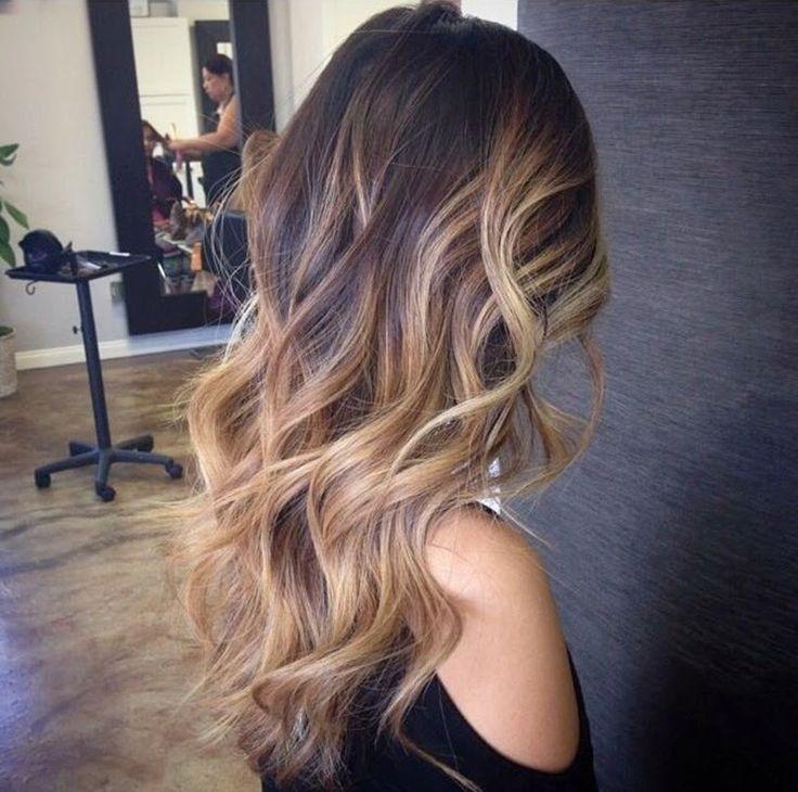 Омбре на темные волосы длинные волосы фото