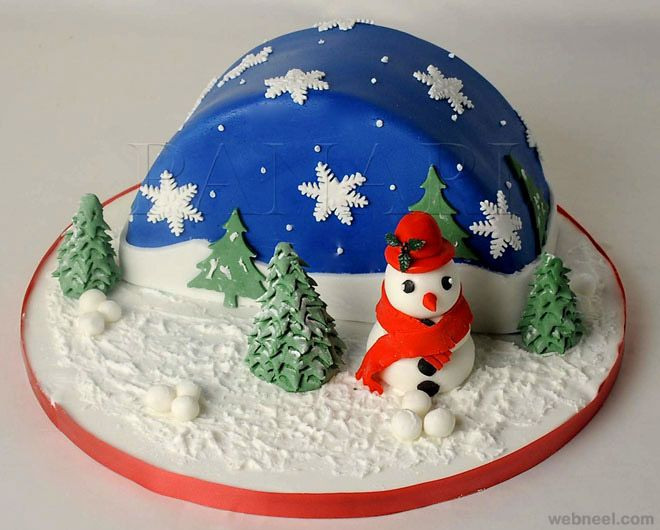Christmas Cake Decoration Ideas Pinterest : 2107 best Fondant Cakes images on Pinterest Biscuits ...