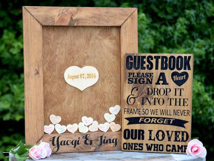 Heart Drop Top Wedding Guest Book Alternative