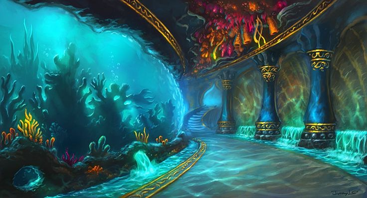 World of Warcraft Concept Art: The Abyssal Maw. Does any aquarium have an old-world theme? Maybe a haunted aquarium. I don't know.