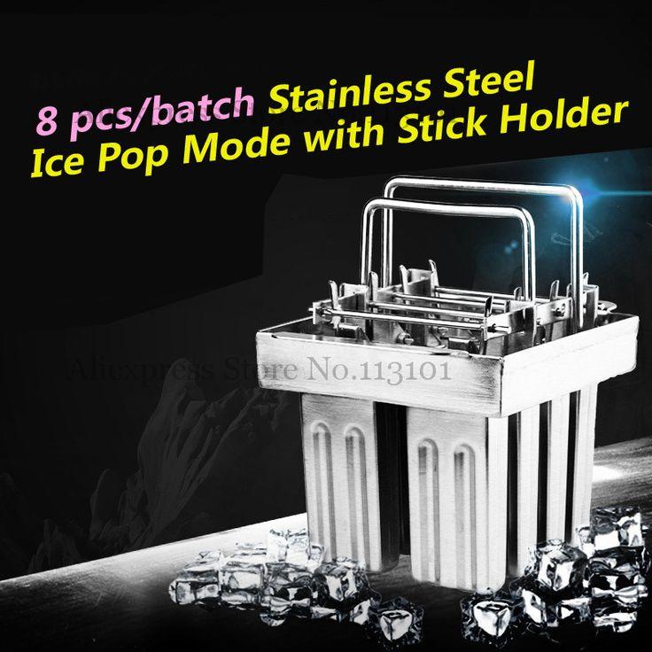Frozen Ice Pop Maker 8 Molds/set with Popsicle Sticks Holder 8pcs/Batch