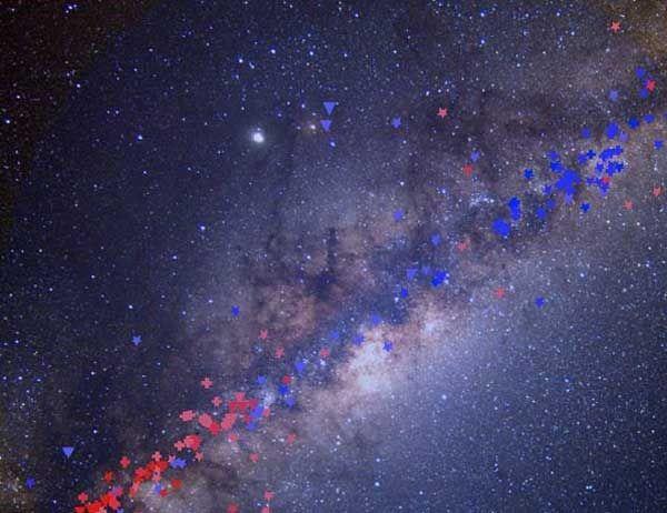 Encuentran materia oscura en el interior de la Vía Láctea: http://www.muyinteresante.es/ciencia/articulo/encuentran-materia-oscura-dentro-de-la-via-lactea-451423575526