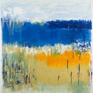"""calm as glass 30"""" x 30"""" oil on canvas $1125 (framed) by Marlene Lowden"""