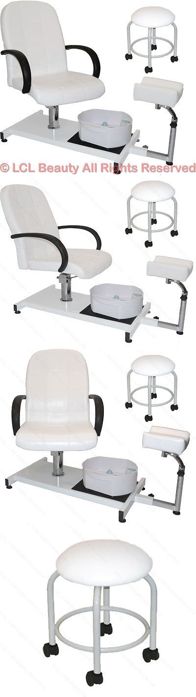 Spas Baths and Supplies: White Pedicure Station Hydraulic Chair And Massage Foot Spa Beauty Salon Equipment BUY IT NOW ONLY: $299.88