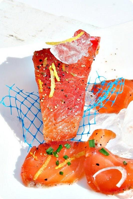 saumon séché aux agrumes