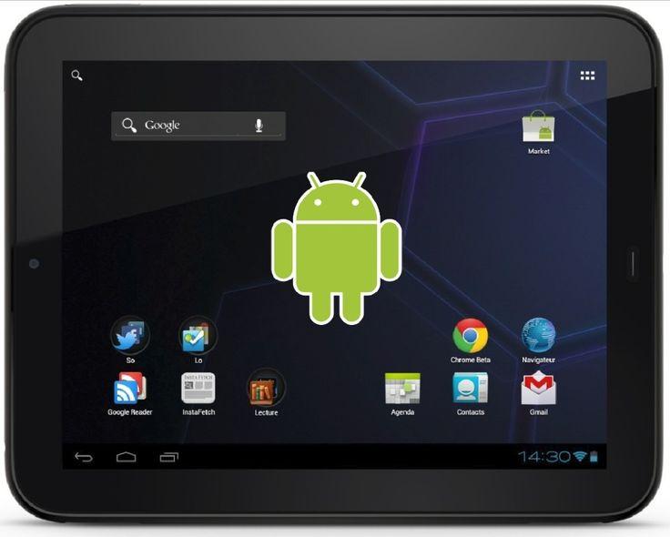 Androide en una tableta