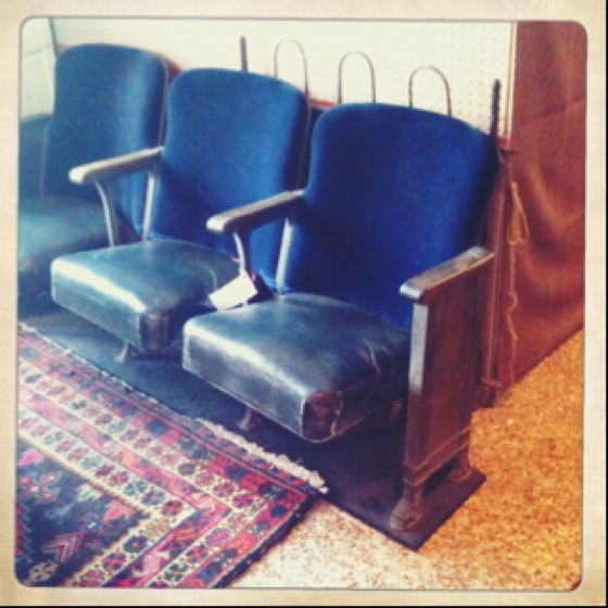 theatre seats. so cool. {courtesy of franklin antique mall}