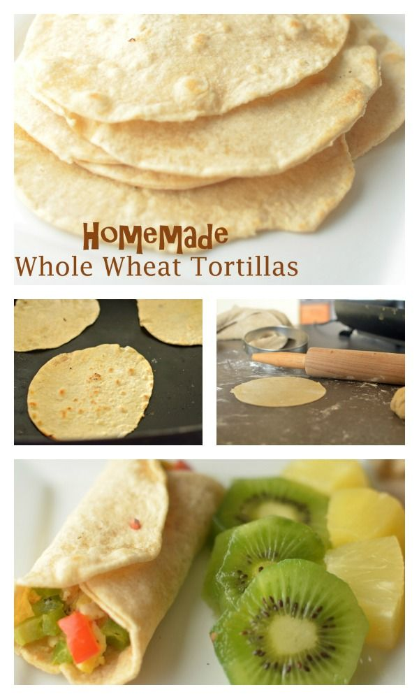 Homemade Whole Wheat Tortillas Recipe with Holiday Breakfast Burrito - Yes, you can do this yourself, and it's actually kind of fun (and cathartic) http://www.superhealthykids.com/homemade-whole-wheat-tortillas-with-holiday-breakfast-burrito/