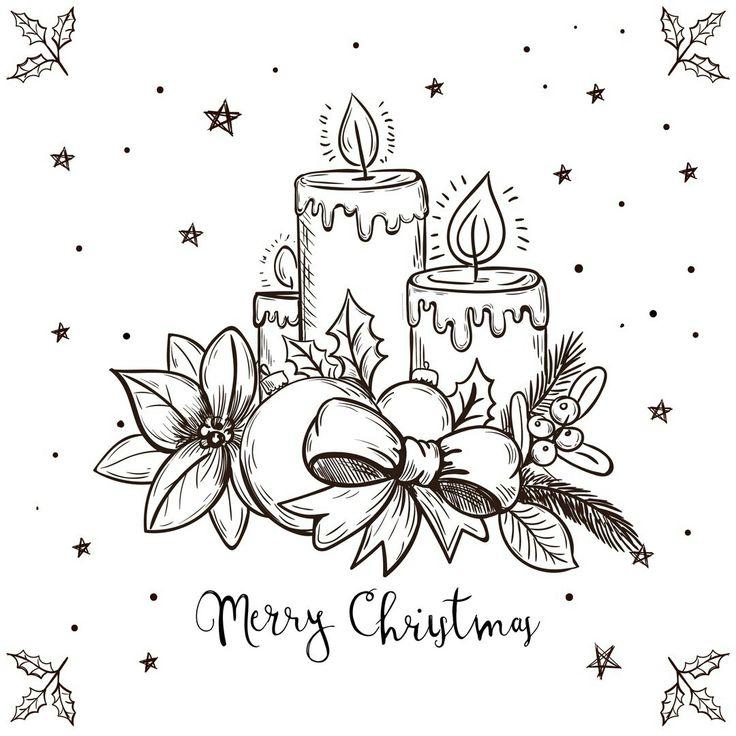 Рисовать открытки на новый год картинки
