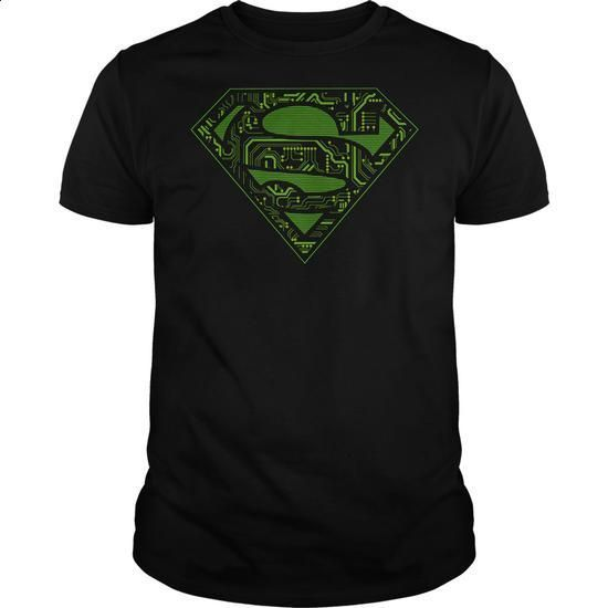 Superman Circuits Logo - #navy sweatshirt #hoddies. ORDER HERE =>…
