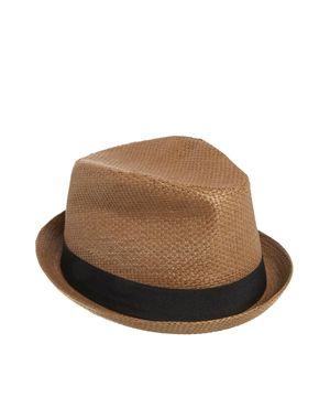 Bild 1 von ASOS – Porkpie-Hut aus Stroh