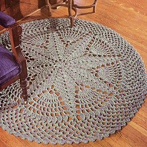 "Starburst Rug Crochet ePattern - Number of Designs: 1 rugApproximate Design Size: 52"" diameterDesigner: Anne HallidayOriginal Publication: Leisure Arts Leaflet #2915, Floor Show Skill Level: Easy †Description: This starburst-centered rug is sure to be a ""star"" in any room in your home! It is quick to complete because it is crocheted while holding three strands of medium weight yarn and using a large size N (9.00 mm) hook. †Product Type: Digital Download ThemesHome Decor"
