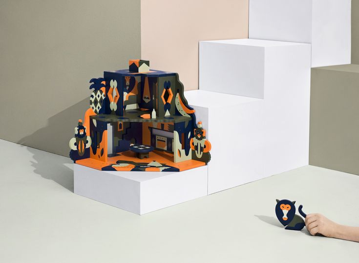 """""""Monkeyhouse"""" — NOOKS Dollhouse Collection by Janine Rewell"""