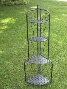 Amazon.com: Indoor or Outdoor Iron Folding Bakers Shelf / Plant Rack: Patio, Lawn & Garden