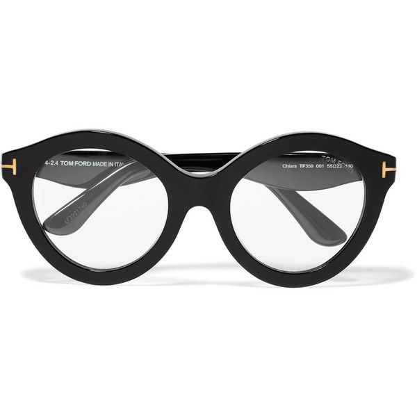 Tom Ford D-frame acetate optical glasses (£116) ❤ liked on Polyvore featuring accessories, eyewear, eyeglasses, black, tom ford eye glasses, lens glasses, tom ford glasses, clear eyeglasses and tom ford eyewear