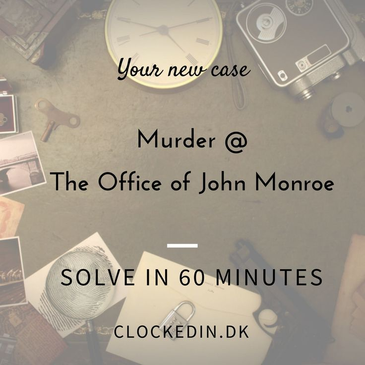 Do you have a detective mind? Then find the clues & solve the game @ clockedin.dk