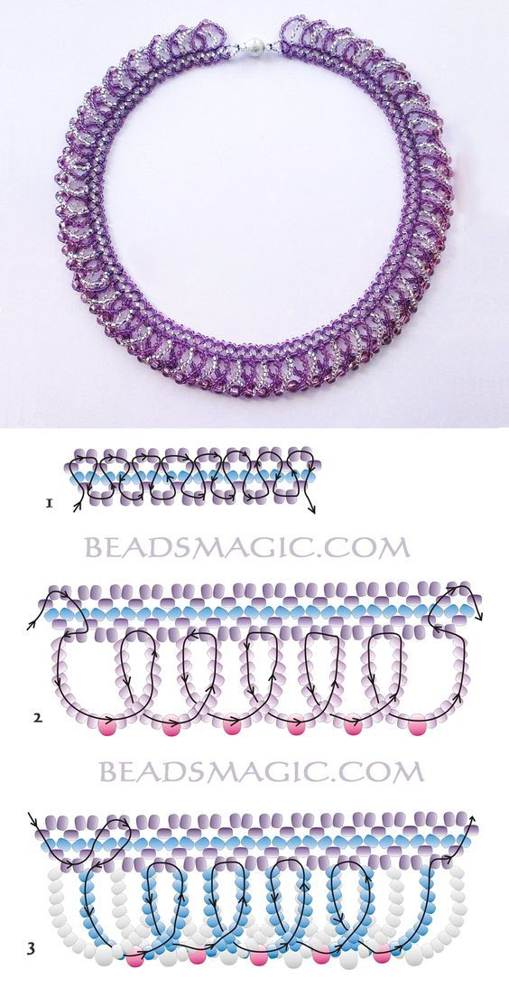Free pattern for necklace Ireland