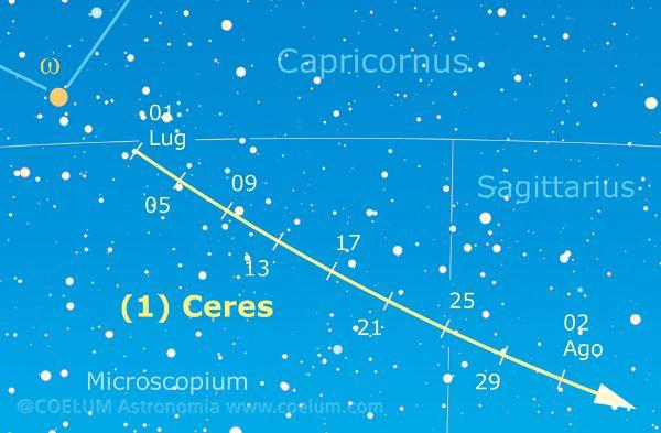 Cerere, attualmente visitato dalla sonda Dawn, sarà alla minima distanza e alla massima luminosità rispettivamente il 23 e il 25 luglio.  Un'altra FOTO STORICA che aspettiamo su gallery@coelum.com!  Questo e molto altro su Coelum n. 194 di luglio/agosto > http://www.coelum.com