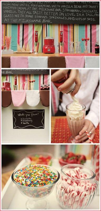 Candy and Milkshake Bar