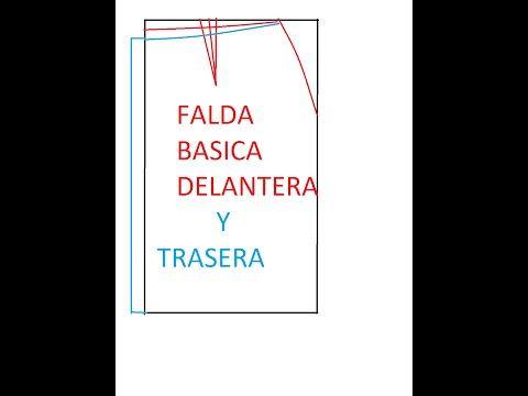 CURSO. Aprender a coser faldas parte 1: Cómo hacer un patrón base. - YouTube